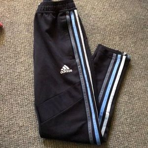Adidas track pant with zipper ankle